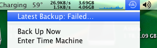 Latest Backup: Failed....